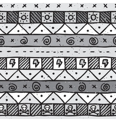 Hand drawn mexican seamless pattern vector image vector image