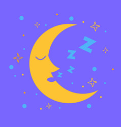 Icon for children in the form of the moon vector