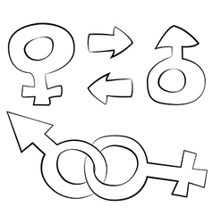 Man and women vector image