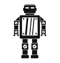 Abstract robot icon simple style vector