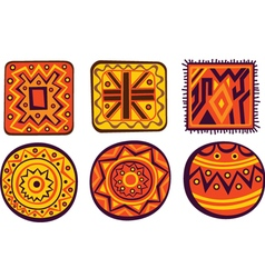 African color ornament vector image