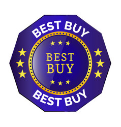 best buy badge vector image