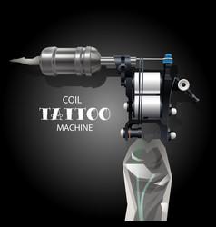 coil tattoo machine vector image