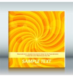 Cover page template brochure background vortex joy vector