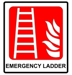 Fire ladder sign emergency symbol vector image