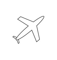 plane of icon vector image
