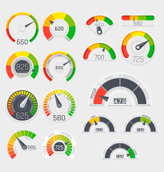 business credit score speedometers vector image