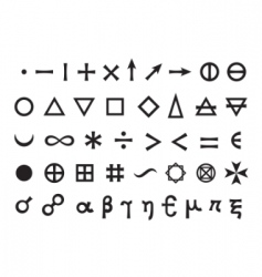 elements and symbols vector image vector image