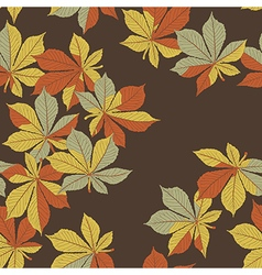 Fallen chestnut leaves Autumn orange leaves vector image