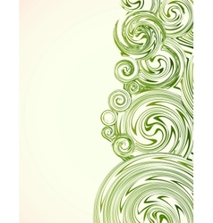 Hand drawn ornate swirl abstract grass vector