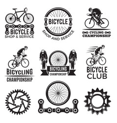 labels set for biking club of vector image