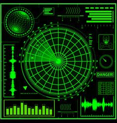 A green radar screen eps10 vector