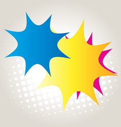 abstract colorful star vector image