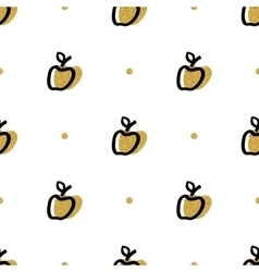 Artistic apple seamless pattern Trendy fashion vector image