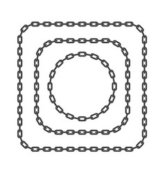 black chain frame template vector image