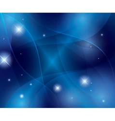Blue abstract futuristic wavy background vector