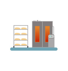 bread baking in the oven stage of bread vector image