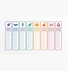 business infographics template with 8 options vector image