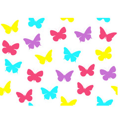 butterfly seamless pattern seamless pattern vector image