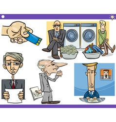 cartoon concepts and sayings set vector image