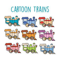 cartoon locomotive retro vector image
