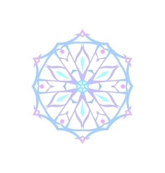 Christmas Decoration Snowflake Isolated vector