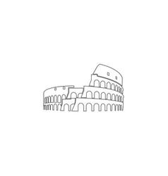 Coliseum in rome flat icon vector