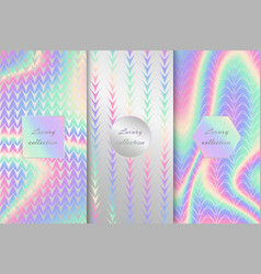Collection of holographic backgrounds vector
