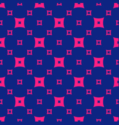 Colorful pink and navy blue geometric seamless vector