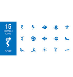 Core icons vector