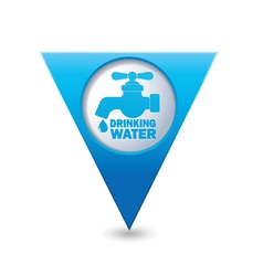 Drinking water BLUE triangular map pointer vector