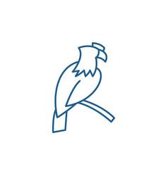 eagle line icon concept eagle flat symbol vector image
