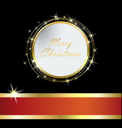 elegant christmas card with golden ball and tinse vector image