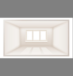 empty room clean wall sunlight falling vector image