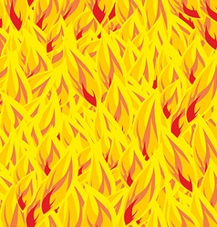 Fire seamless pattern flames background Flame vector image