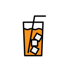 fresh drink lemonade glass smoothie diet vector image
