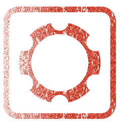 Gear wheel framed textured icon vector