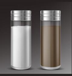 Glass salt and pepper shaker vector