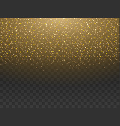 gold dust sparkle powder vector image