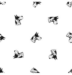 Great dane dog pattern seamless black vector