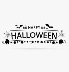 happy halloween pumpkin realistic decoration vector image