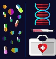 Healthcare medical flyer vector