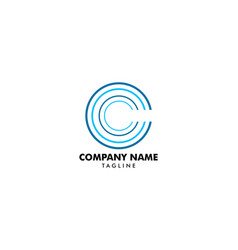 initial letter c logo template design vector image
