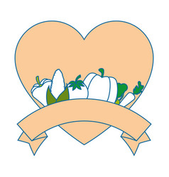 isolated heart vegetables vector image