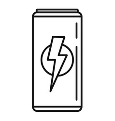 juice energy drink icon outline style vector image