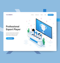 Landing page template professional esport vector