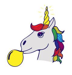 Lovely hand-drawn unicorn vector