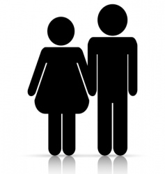 male/female love symbol vector image