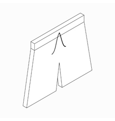 Men swim shorts icon isometric 3d style vector