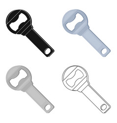 Metal bottle opener for beer bottlesa device for vector